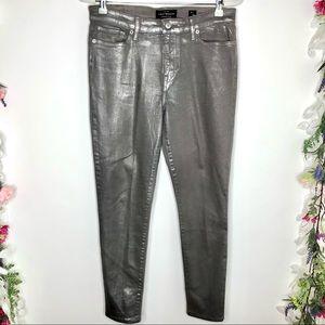 Lucky Brand gray metallic sheen skinny pants